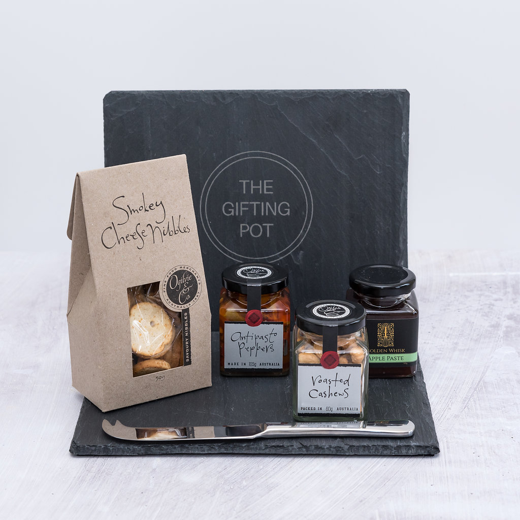 TheGiftingPot- slate board tapas | Lyn Uniewicz The Gifting Pot | Perth Gift Solutions | Corporate Business Gifts